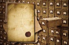 archiwum gabinetowych dokumentów stary nadmierny Zdjęcie Stock