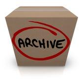 Archiwum kartonu Dokumentacyjnej kartoteki magazyn Pakujący W górę Stawiający Daleko od Obrazy Stock