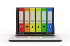 archiwum kolorowy falcówek laptop Obraz Royalty Free