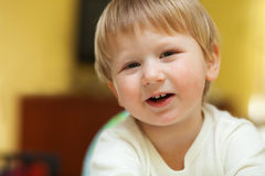 Archly smile Stock Images