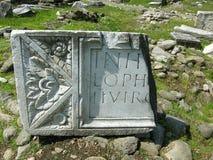 Archäologische Fundstätte in Rumänien Lizenzfreie Stockfotografie