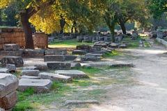 Archäologische Fundstätte von Olympia, Griechenland. Stockbilder