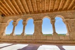 Archs στην εκκλησία Virgin Rivero στο SAN Esteban de Gormaz Στοκ φωτογραφία με δικαίωμα ελεύθερης χρήσης