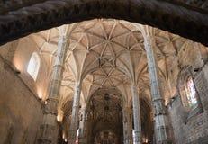Archs потолка христианской церков Стоковое фото RF