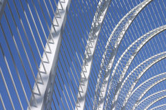 archs金属化白色 免版税图库摄影