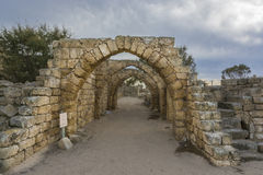 Archs of ancient hose Royalty Free Stock Photography