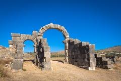 Archs av Volubilis, Marocko Arkivbilder