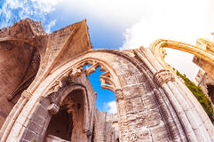 Archs of Bellapais Abbey. Kyrenia District.  royalty free stock photos