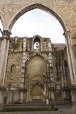 Archs in Carmo convent in Lisbon Stock Photography