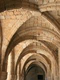Archs de musée en Rhodes Photographie stock
