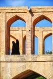 Archs du pont de SI-o-seh pôle à Isphahan, Iran photographie stock libre de droits