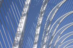 archs metal white Royaltyfri Fotografi