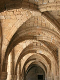 Archs of museum in Rhodes. Columns and archs in the passage of archaeological museum in Rhodes. Greece Stock Photography