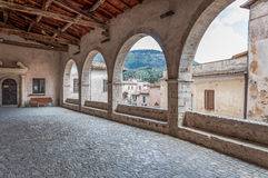 Archs. Open space with arch in sermoneta town italy Stock Image