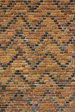 Archtecture texture - Old patterned brick wall. Old patterned red brick wall full frame texture background Royalty Free Stock Photo