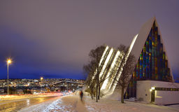 The Archtic Cathedral, Tromso, Norway Stock Photo