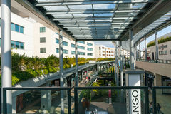 Archtitecture του σύγχρονου εμπορικού κέντρου Στοκ φωτογραφίες με δικαίωμα ελεύθερης χρήσης
