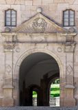 Archway. This image shows a old archway with emblem stock photography