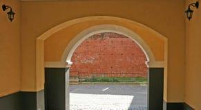 Archway. In the old city (Riga, Latvia Royalty Free Stock Photos