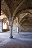 The archway. A old archway in a medieval church Royalty Free Stock Photography