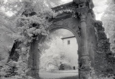 Archway. The old archway at the parc of Neckarbischofsheim,Germany Stock Image