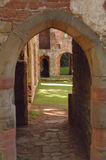 Archway Acton-Burnell Castle. Acton-Burnell Castle ruins in the English home counties Royalty Free Stock Photo