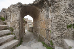 Archway at Antonine Thermae, Tunis, Tunisia Stock Photos