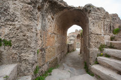 Archway at Antonine Thermae, Tunis, Tunisia Royalty Free Stock Photography