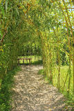 Archway with bamboo cane Royalty Free Stock Images