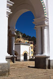 Archway at Basilica of Copacabana, Bolivia Stock Photo