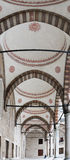 Archway Blue Mosque, Istanbul. Stacked panorama of a beautiful ottoman archway in the courtyard of the Blue Mosque, Istanbul, Turkey Royalty Free Stock Image