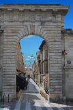 Archway in Bordeaux. An Archway in Bordeaux city, France Royalty Free Stock Images