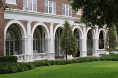 Archway Building. Building with Multiple Archways taken in Lakeland Florida Stock Photos
