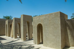 Archway buildings at luxury arabian desert resort Royalty Free Stock Image