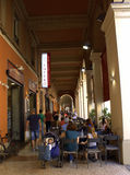 Archway cafe in Bologna Italy Royalty Free Stock Photo