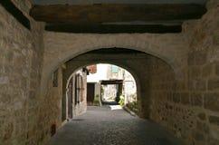 archway castelnau montmiral wioska Zdjęcia Royalty Free
