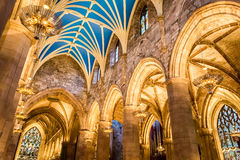 Archway in the Cathedral of Edinburgh Royalty Free Stock Photo