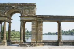 Archway or a colonnade at the Italian garden of Hever Castle in England Stock Images