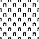 Archway duża ikona, prosty czerń styl Obrazy Stock