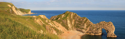 Archway durdle door - british unesco heritage, panorama Stock Photo