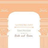 Archway dzień ślubu Zdjęcia Royalty Free