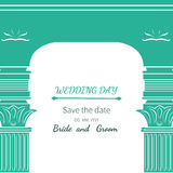Archway dzień ślubu Zdjęcie Royalty Free