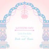Archway dzień ślubu Obrazy Stock