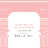 Archway dzień ślubu Fotografia Royalty Free