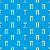 Archway Egypt wzoru wektorowy bezszwowy błękit Zdjęcia Royalty Free