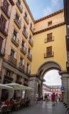 Archway entrance to Plaza Mayor of Madrid, Spain Royalty Free Stock Photo
