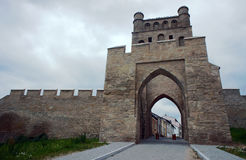 Archway and fortfied wall in Szydlow Stock Photos