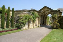 Archway in a garden, Hever castle, Kent, England Royalty Free Stock Image