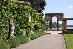 Archway in a garden, Hever castle, Kent, England Stock Image