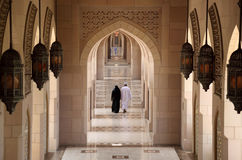 Archway in Grand Mosque, Oman Royalty Free Stock Photography